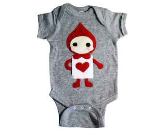 The Trumps - Heart - Alice's Adventure in Wonderland - Infant Bodysuit - Baby Clothing - Gift