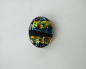96 COE Dichroic Glass Cabochon