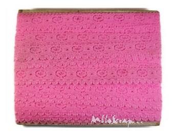 1 m pink lace embellishment scrapbooking cardmaking