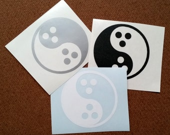 Dudeism Yin Yang Vinyl Decal for Car Windows and Laptops