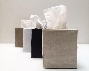 3 linen tissue covers