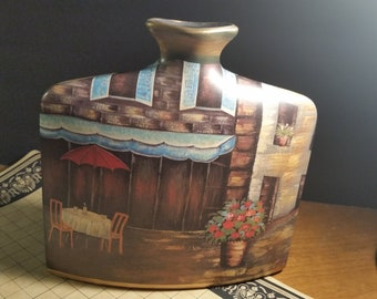Vase envelop Modern decor .Hand painted
