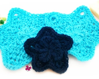 Crochet Star Face Scrubbers Gift Set, Facial Pads, Makeup Remover Pads, Blue, Housewarming, Gifts For Her, Gifts For Mom, Facial Care