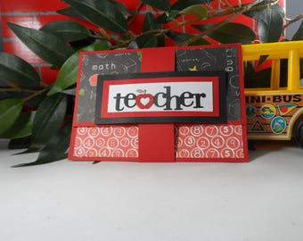 Teacher Thank You,  Teacher Appreciation Gift Card Holder, Teacher Gift, End of Year Teacher Gift, Gift Card Holder for Teacher