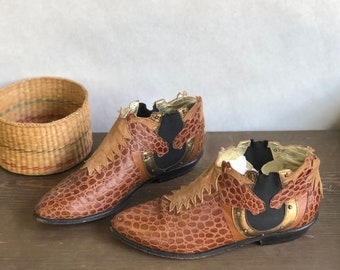 5.5 M | ZALO Western Horse Chelsea Ankle Boots