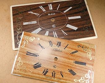 Plastic Alarm Clock Faces - set of 2 - c160