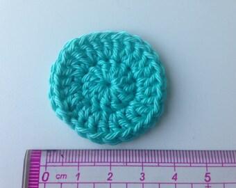 Crochet green rosette flower