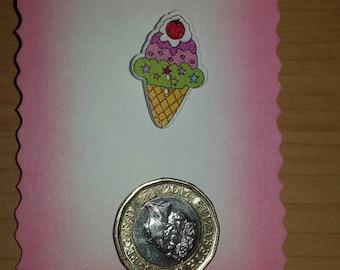 Ice cream cone badge