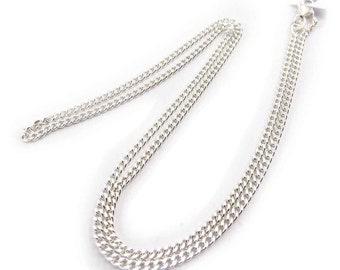 Silver ml 46cm 3mm curb chain