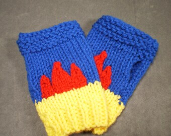 Lucky Gloves: Captain Marvel No. 9 Carol Danvers Lucky Hat inspired Lucky Gloves - Made to Order