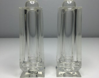vintage clear lucite salt and pepper shakers