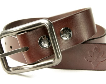 Premium Italian Leather Mens Belt - Classic