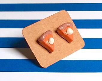 Pumpkin pie earrings!