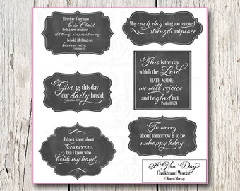 Schrift Chalkboard Digital WORDart-A neue Tag - Cardmaking-Scrapbooking-KJV