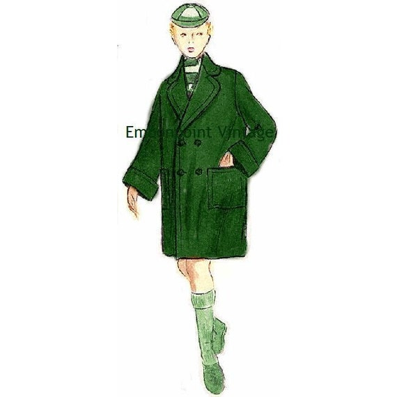 Plus Size (Or Any Size) Vintage 1949 Coat Sewing Pattern   Pdf   Pattern No 107 Ellis 1940s 40s 1950s 50s by Etsy