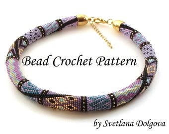 """Pattern for bead crochet necklace """"Amira"""""""