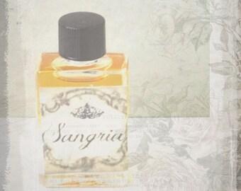 "Natural Botanical Perfume-- ""Sangria"" in 5 ml glass bottle"