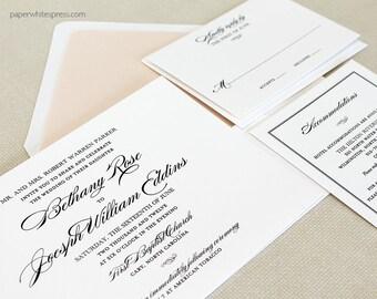 Traditional Wedding Invitations, Classic Wedding Invitations, Timeless Wedding Invitations, Script Wedding Invitations, Classic Script