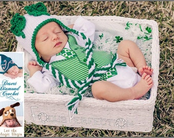 Shamrock Ears Earflap Beanie - Any Size - Any Color