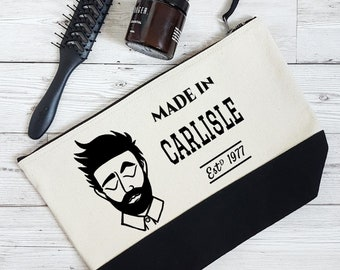 Gift for dad, Fathers day gift, gift for groom, wedding gift, wash bag,  travel bag, present for husband,  dapper dude, personalised