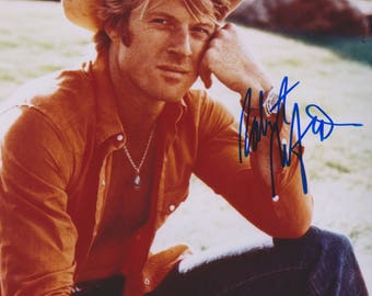 Robert Redford Young Original Vintage Hand Signed 8X10 Autographed Photo