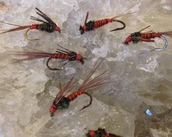 Fly Fishing Flies: Three (3) Pheasant Tail Nymph
