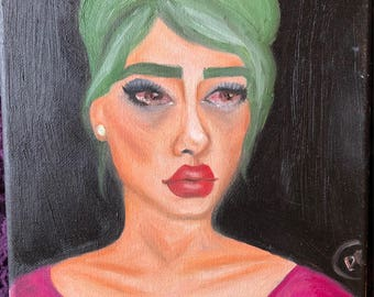 Sad Girl // Original Painting