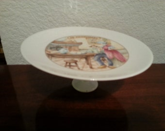 Ceramic Cheese Plate on Pedestal - Le Camembert