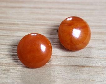 Vintage Orange bakalite earrings