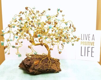 Bonsai Gem Trees, Bonsai Art Sculpture, Gemstone Trees, Magnesite Gem Tree, Spiritual Gifts