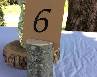 10 Rustic WeddingBranch Table Number Holders Wedding Decor 4 inches tall Elegant Rustic Woodland Wedding