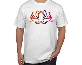 Lotus Yoga  Watercolor Design T-shirt