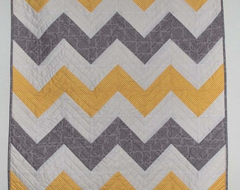 PDF Baby Chevron Quilt Pattern PDF for digital download