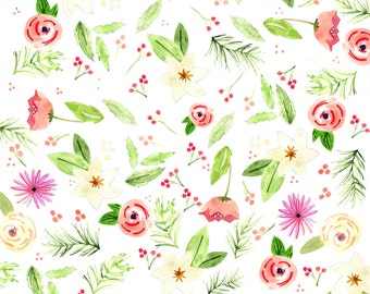 Holiday Floral Wrapping Paper