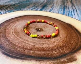Malawian Sunset Amina Beaded Bracelet