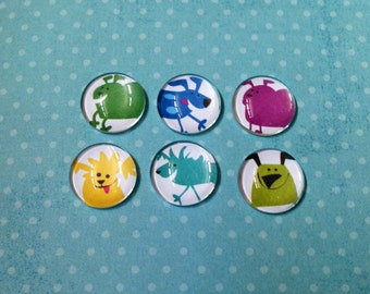 Colorful Dog Bubble Magnets