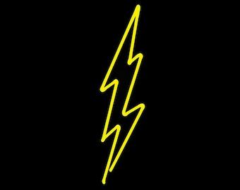 Lightning Neon Freestanding Art Sculpture FREE SHIPPING