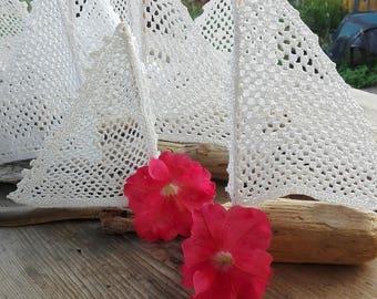 20 set Sailboats crochet, Crochet boats, wedding boats, wedding decor, Sailboats wedding decor, coastal decor, coastal boats