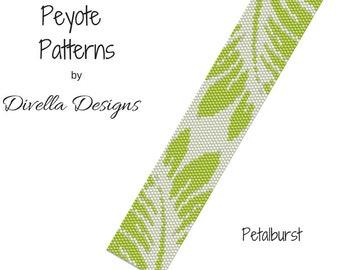 Peyote Pattern, Petalburst, Beading Pattern, Earring tutorial, Clasp Tutorial