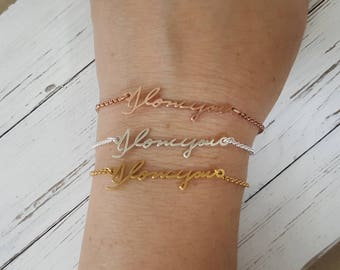Personalized Actual Handwriting Bracelet - Custom Actual Handwriting Jewelry - Signature Bracelet - Memorial Keepsake Gift