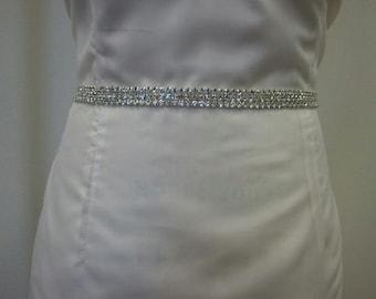 Bridal Belt, Wedding belt, Bridesmaid Belt- Rhinestone Belt Style B102 - Made to Order