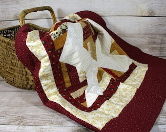 Lap Quilt, Throw Blanket, Primitive, Baby Quilt, Wall Hanging, Toddler Blanket