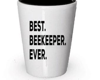 Beekeeper Shot Glass, Best Beekeeper Ever, Beekeeper gift, Gift for Beekeeper ,  Birthday Gift, Christmas Present