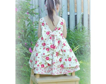 The Secret Garden Dress - PDF Pattern - Sizes 2 to 10 - Instant Download