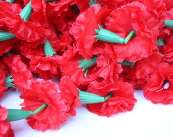 Red Marigold Garlands, Flower Garland,Wedding Flowers,Valentines,Diwala Marigold, Set of 6, 5 Feet Long Strands, Party Decor, Wedding