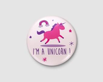 """Unicorn badge """"I'm a Unicorn!"""""""
