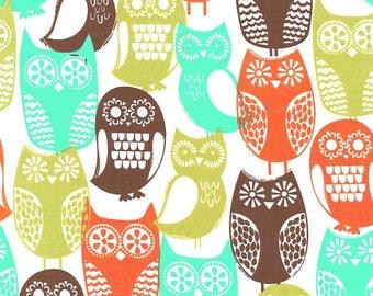 Fabric, Michael Miller Swedish Owls, Owl Fabric, Vintage Owl