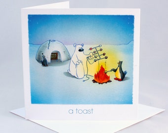 A Toast, Birthday Card, Special Occasion Card, Celebration Card, Congratulations Card