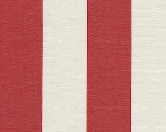 Outdoor Stripe Red & Off White, Stripe Fabric