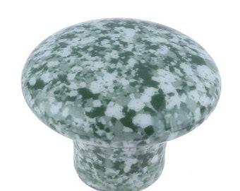 On Sale Set Of 4, Speckled, Ceramic, Cabinet Knob, Drawer Pull green, white, Enamelware, Granite ware, furniture knobs, Graniteware